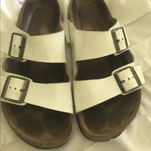 Shoes - Birkenstock white patent leather Arizona sz 40 W9